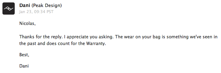 Deuxième réponse me confirmant que l'usure est comprise dans la garantie