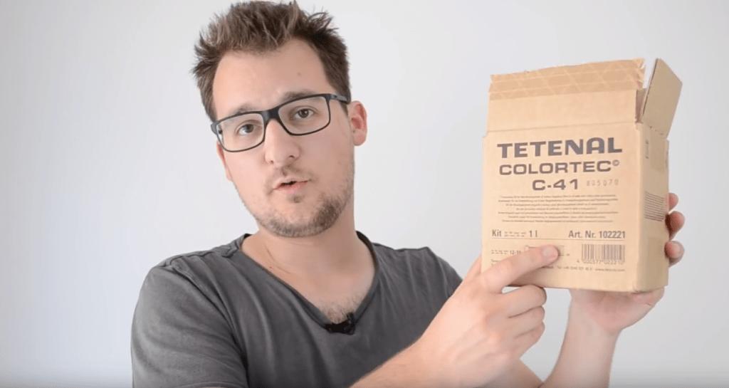 Le fameux kit de développement couleur C-41 de Tetenal