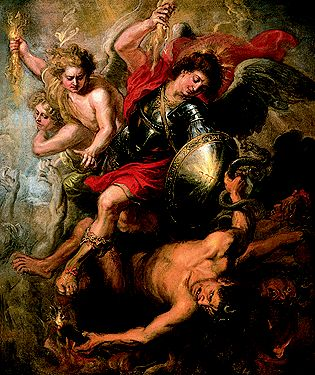 St. Michael Expelling Lucifer and the Rebellious Angels from Heaven, c. 1622