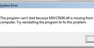 How to Fix Msvcr100.dll Not Found or Missing Errors