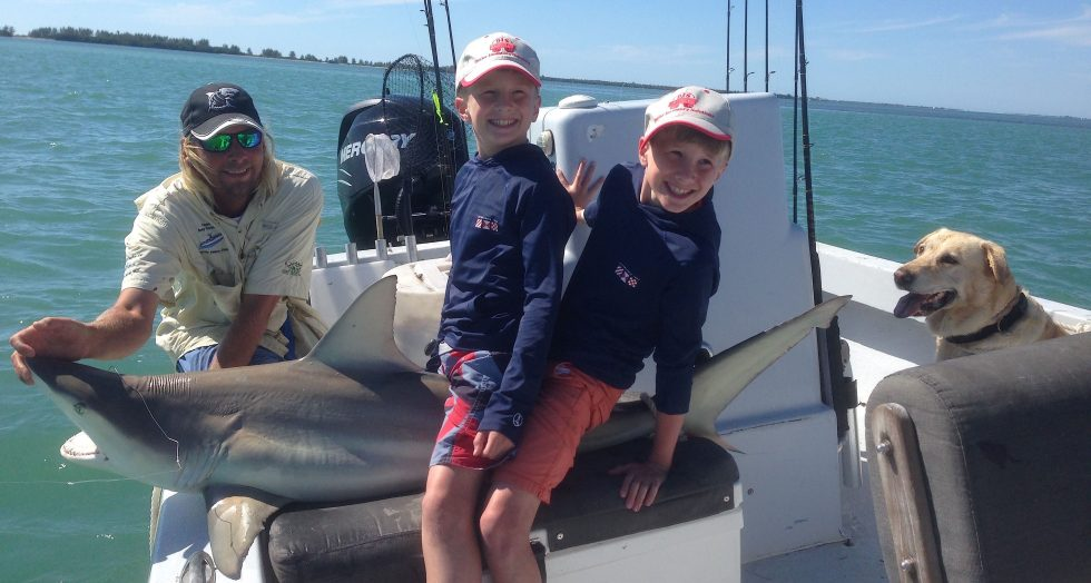 Captiva Fishing, Blacktip Shark 4-2-15, Sanibel Fishing & Captiva Fishing & Fort Myers Fishing Charters & Guide Service.