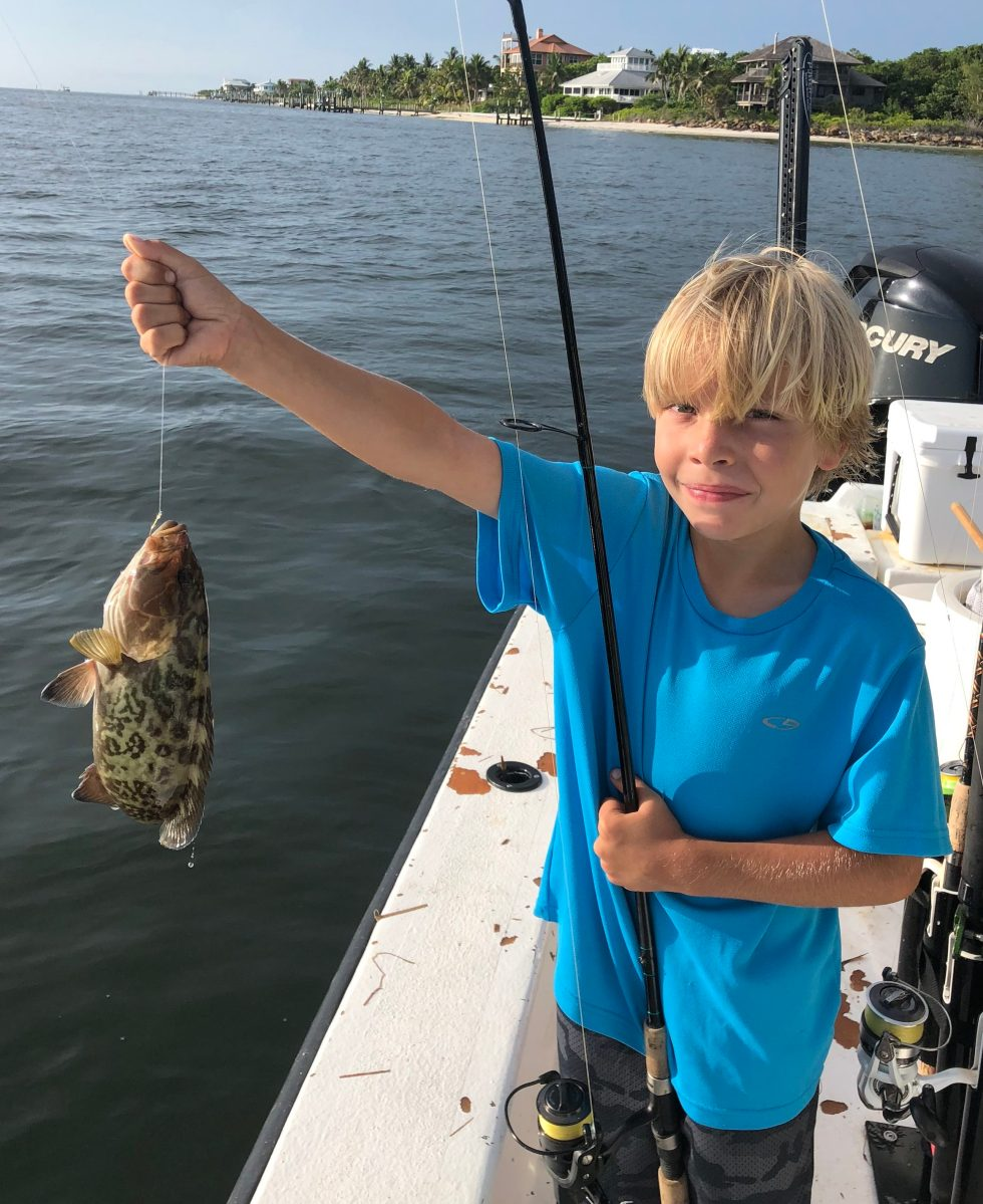 Grouper, Jimmy Burnsed, Catch & Release, Sanibel Island Fishing Charters & Captiva Island Fishing Charters, Sanibel Island, Sunday, July 29, 2018.