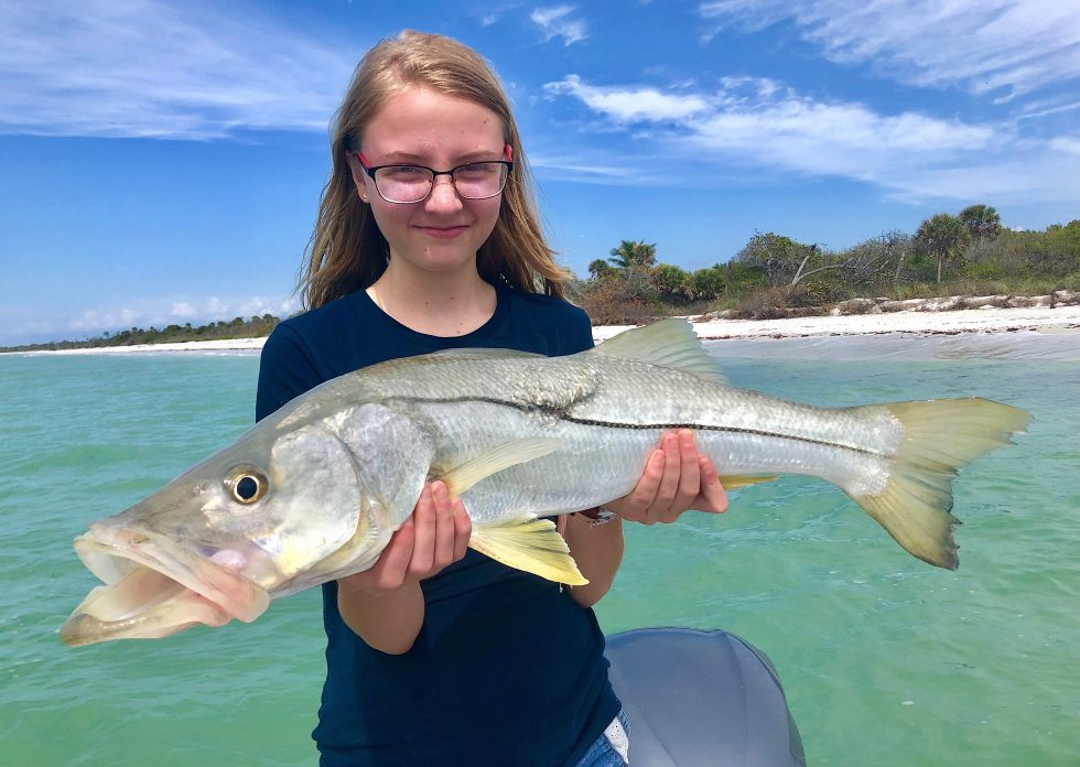 Snook, Sanibel Island Fishing, Catch & Release, Captiva Island, Saturday, March 2, 2019.