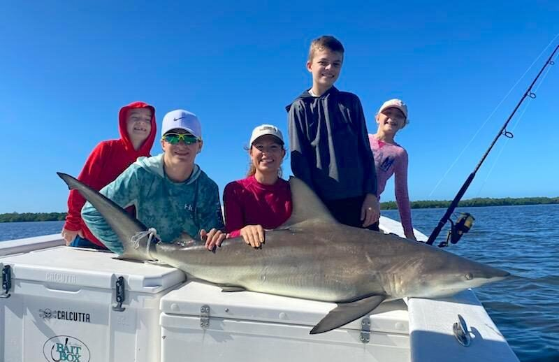 Blacktip Shark, Sanibel Island Fishing, Catch & Release, Captiva Island, Friday, November 25, 2020.