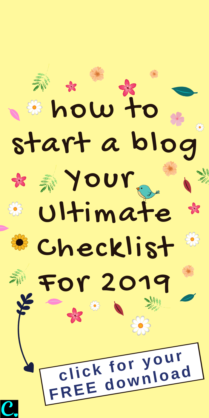 How to start a blog checklist! This infographic checklist will let you know all the things to do when starting a blog... click on the pin to download your free printable how to start a blog checklist right now! #captivatingcrazy