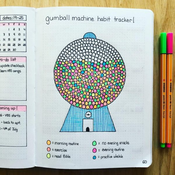 gumball machine habit tracker