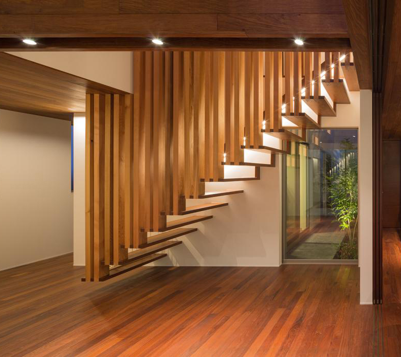 Suspended Wooden Staircase Floats On Air Captivatist