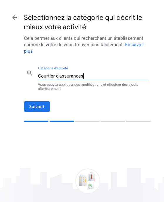 google my business étape 5