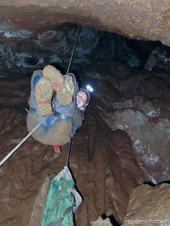 Chris begins her ascent