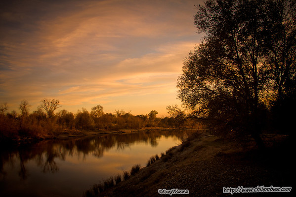 sunset on the American River