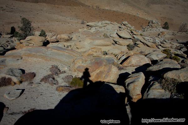 Rocks back by the trail head