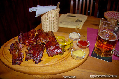 Mmm ribs, I made the mistake of order potatoes since these came al la carte, but really that was a ton of food. Oh and delicious beer.