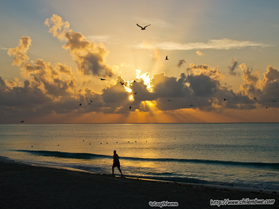 Sunrise at Playa Del Carmen