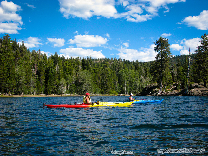 Ric and Marrianne Paddling the lake