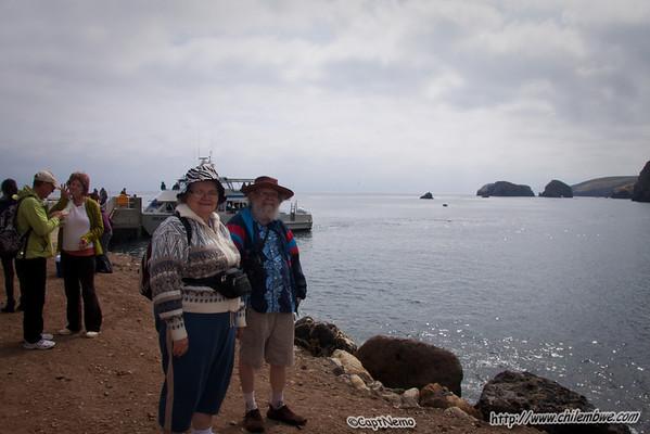 Mom and Dad on Santa Cruz Island.