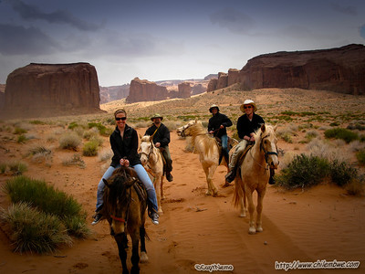 Horse riding in Monument valley