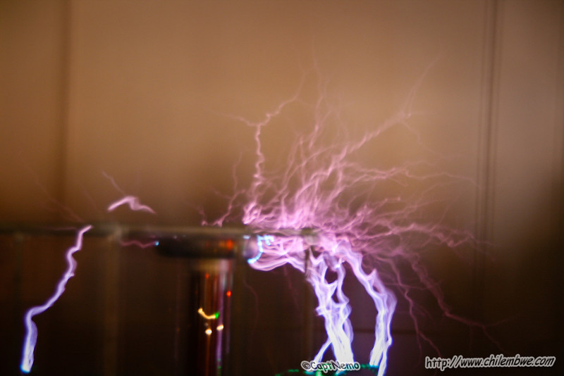 Its electric- tesla coil generates big sparks