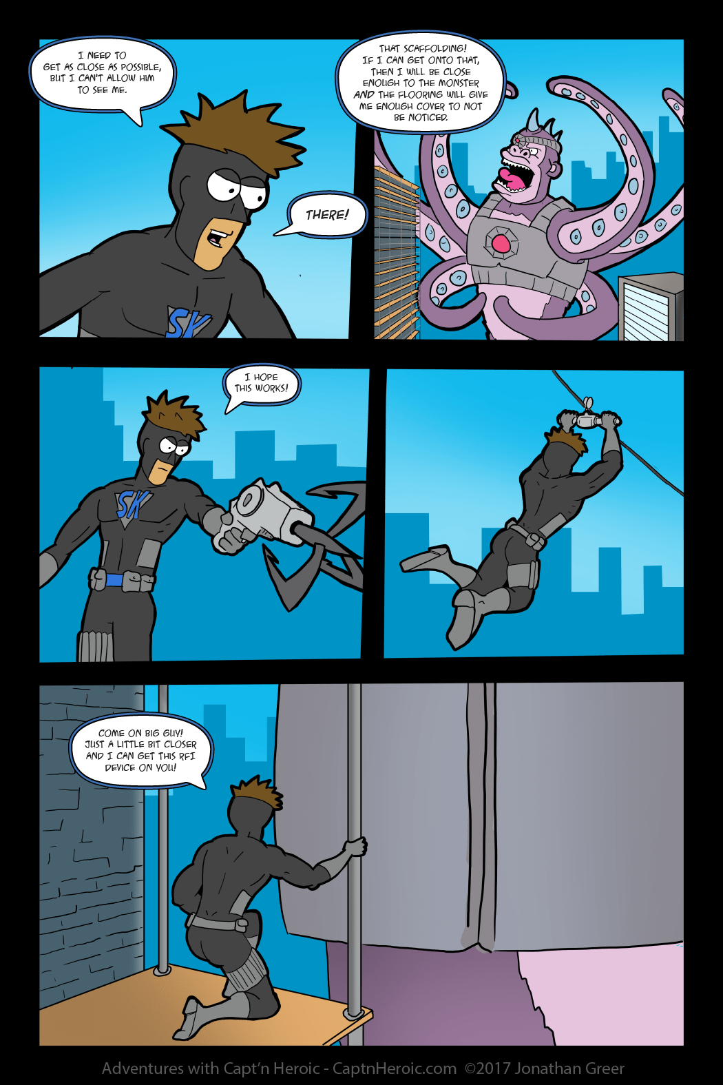 Adventures with Capt'n Heroic: In the Beginning- Page 49 The Silent Knight is Jumping into Action