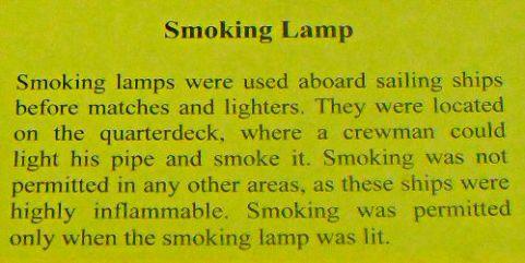 Smoking Lamp - US Coast Guard Museum - Seattle