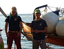 As we sailed, the staff kept up a narrative on the marine environment and about some of the projects and classes they had on the Schooner Adventuress. They have a youth program with a very strong environmental element.