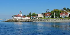 Alki Lighthouse, West Seattle Washington taken from Puget Sound