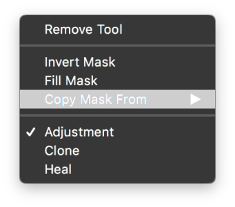 Right-clicking on a layer gives you handy options like inverting the mask.