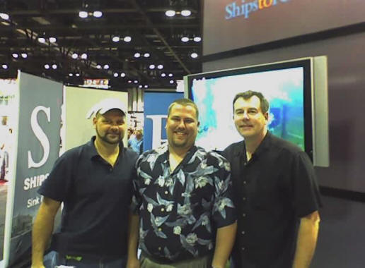 Capt. Pete with Shadow Divers Richie Kohler & John Chatterto