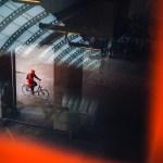 Biker in Red, AmsterdamFotograaf Bas Hordijk (RAI station - March 2018)