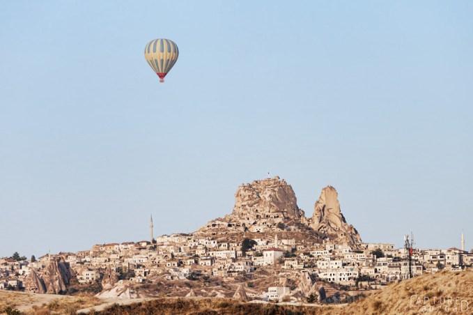Lone balloon over Cappadocia
