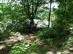 The lake shelter location was beautiful and had a nice picnic table for our lunch