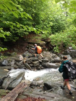 There used to be a bridge at Stony Brook, but rock hopping wasn't too difficult