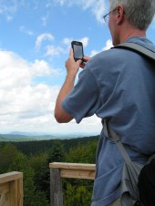 My husband taking pics from the Lookout