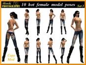 famale model poses set 1 800x600