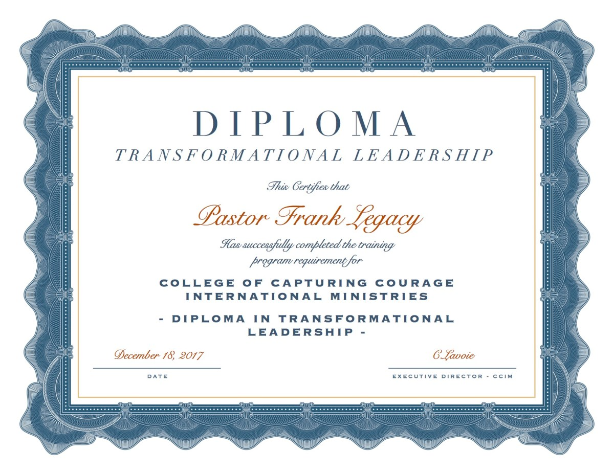 Diploma in Transformational Leadership