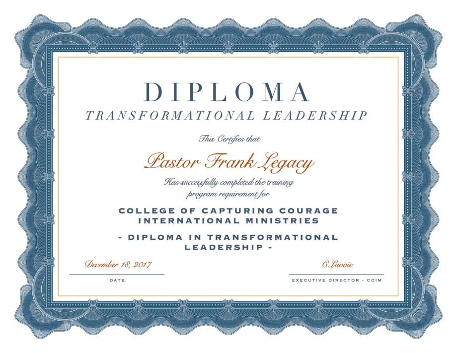 Diploma in Transformational Leadership