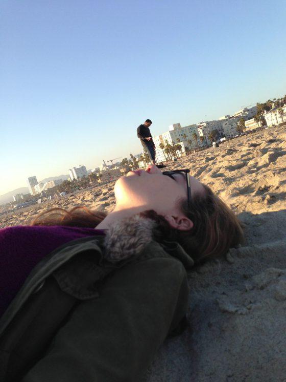 Santa Monica Beach having fun