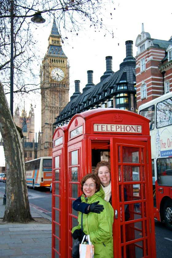 London with Carol and Christina