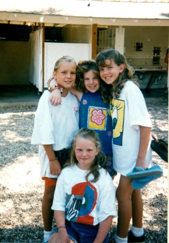 Christina with Friends at Kamp Kanakuk