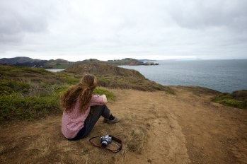 Moment of reflection – Overlooking Point Bonita Lighthouse in the distance