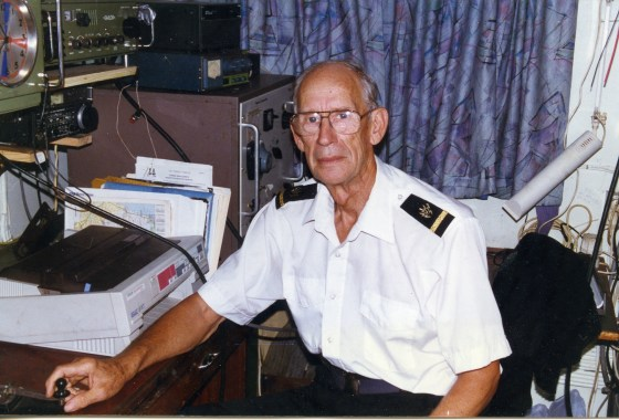My father, on board the Anastasis Mercy Ship as a radio operator.