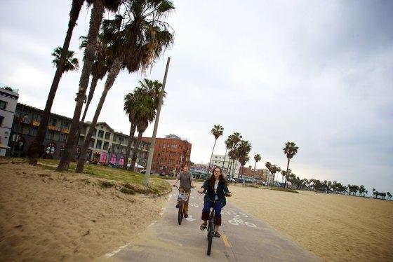 Backing the beach in Santa Monica