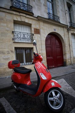 Our Vespa from Left Bank Scooter rentals
