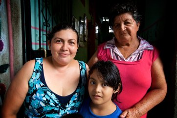 This sweet family cooked most of our meals, the precious little girls name is Melina, to her right is grandmother Auria and behind her is great grandmother Yolanda.