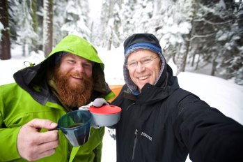 One of my most memorable #cupofmornings... with one of the biggest hearted guy's I know, hands down the top choice for company in a Yosemite snowstorm. Thanks Marcus Bowen