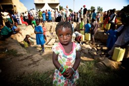 Precious little girl who will benefit greatly from the new water well that we celebrated that day in Uganda. Life is simple when you have nothing. So easy here to be grateful for something as basic as clean water.