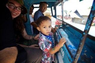 Six in a tuk tuk. Bohol Island, Philippines