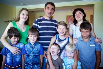One of the families who live at fathers house, blending foster children in with their own.