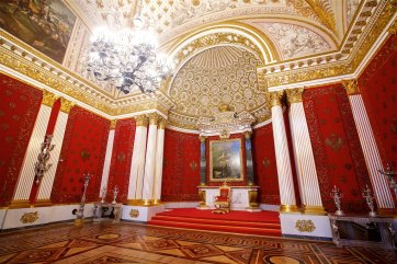 Peter the Great's memorial throne room at the Winter Palace / Hermitage Museum in St Petersburg (The Red Room)