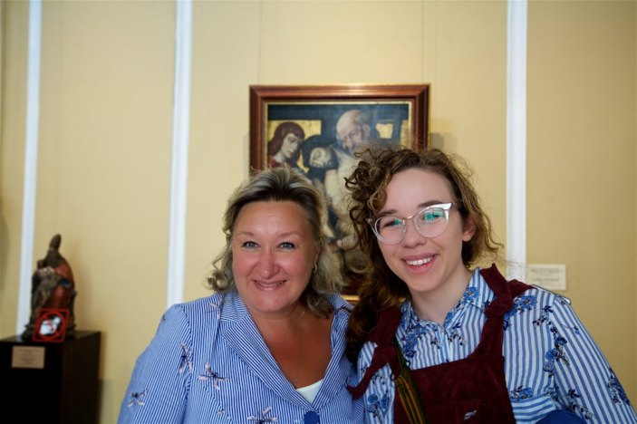 Carissa standing with Natasha Votyakova whose wealth of Russian history knowledge was so beneficial as she took us on a tour of The Hermitage