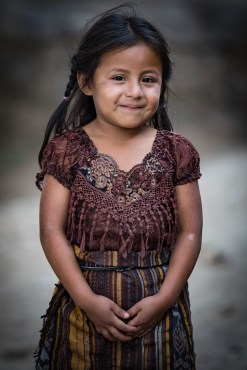 Precous little girl in Cerro De Oro Guatemala